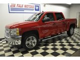 2012 Victory Red Chevrolet Silverado 1500 LT Crew Cab 4x4 #58664423
