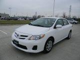 2011 Super White Toyota Corolla LE #58664258