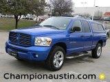 2007 Electric Blue Pearl Dodge Ram 1500 Sport Quad Cab 4x4 #58684108
