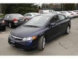 2007 Royal Blue Pearl Honda Civic LX Sedan #5840283