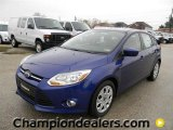 2012 Sonic Blue Metallic Ford Focus SE 5-Door #58684081