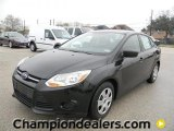 2012 Tuxedo Black Metallic Ford Focus S Sedan #58684079