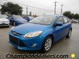 2012 Blue Candy Metallic Ford Focus SE 5-Door #58684078