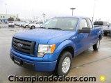 2012 Blue Flame Metallic Ford F150 STX SuperCab #58684076