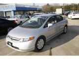 2007 Alabaster Silver Metallic Honda Civic GX Natural Gas Vehicle Sedan #5840258