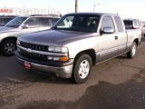 2000 Light Pewter Metallic Chevrolet Silverado 1500 Extended Cab #58700896
