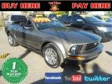 2005 Mineral Grey Metallic Ford Mustang V6 Premium Convertible #58700974