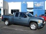 2010 Blue Granite Metallic Chevrolet Silverado 1500 LT Extended Cab 4x4 #58700839