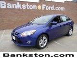 2012 Sonic Blue Metallic Ford Focus SE Sport Sedan #58700685