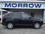 2011 Ebony Black Kia Sorento LX V6 AWD #58700802