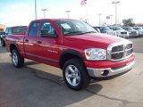 2007 Flame Red Dodge Ram 1500 SLT Quad Cab 4x4 #58700928