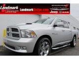 2010 Bright Silver Metallic Dodge Ram 1500 Sport Crew Cab #58724744