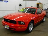 2007 Torch Red Ford Mustang V6 Deluxe Coupe #58725017