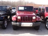 2012 Deep Cherry Red Crystal Pearl Jeep Wrangler Sahara 4x4 #58724950