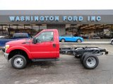 2012 Vermillion Red Ford F350 Super Duty XL Regular Cab 4x4 Chassis #58782839
