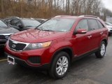 2011 Spicy Red Kia Sorento LX V6 AWD #58783151