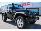 2012 Black Jeep Wrangler Sport S 4x4 #58782706