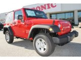 2012 Flame Red Jeep Wrangler Sport 4x4 #58782705