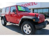 2012 Flame Red Jeep Wrangler Unlimited Sport S 4x4 #58782704