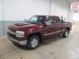 2002 Dark Carmine Red Metallic Chevrolet Silverado 1500 LS Extended Cab 4x4 #58853276