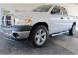 2008 Bright White Dodge Ram 1500 ST Quad Cab #58853250