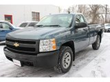 2007 Blue Granite Metallic Chevrolet Silverado 1500 Work Truck Regular Cab 4x4 #58853127
