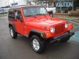 2006 Impact Orange Jeep Wrangler X 4x4 #58852759