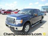 2011 Dark Blue Pearl Metallic Ford F150 XLT SuperCrew 4x4 #58852414