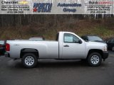 2012 Silver Ice Metallic Chevrolet Silverado 1500 Work Truck Regular Cab 4x4 #58852695