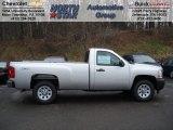 2012 Silver Ice Metallic Chevrolet Silverado 1500 Work Truck Regular Cab 4x4 #58852695