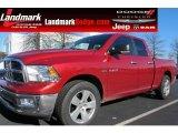 2010 Inferno Red Crystal Pearl Dodge Ram 1500 Big Horn Quad Cab #58852687