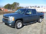 2009 Blue Granite Metallic Chevrolet Silverado 1500 LTZ Crew Cab 4x4 #58853037