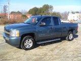 2009 Blue Granite Metallic Chevrolet Silverado 1500 LT Extended Cab #58853036