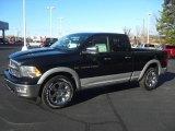 2012 Black Dodge Ram 1500 Laramie Quad Cab 4x4 #58853026