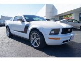2007 Performance White Ford Mustang V6 Deluxe Coupe #58915164