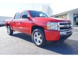 2009 Victory Red Chevrolet Silverado 1500 LT Crew Cab 4x4 #58915163