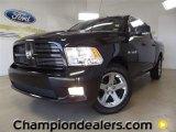 2010 Brilliant Black Crystal Pearl Dodge Ram 1500 Sport Crew Cab #58915097