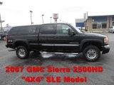 2007 Onyx Black GMC Sierra 2500HD Classic SLE Extended Cab 4x4 #58915660