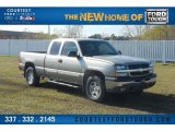 2003 Light Pewter Metallic Chevrolet Silverado 1500 LT Extended Cab 4x4 #58915653