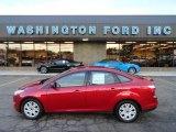 2012 Red Candy Metallic Ford Focus SE Sedan #58969927