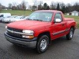 2001 Victory Red Chevrolet Silverado 1500 LS Regular Cab 4x4 #58969884