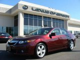 2009 Basque Red Pearl Acura TSX Sedan #5888066