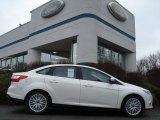 2012 White Platinum Tricoat Metallic Ford Focus SEL Sedan #58969805