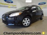 2012 Tuxedo Black Metallic Ford Focus S Sedan #59001962