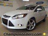 2012 White Platinum Tricoat Metallic Ford Focus Titanium 5-Door #59001958