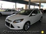 2012 White Platinum Tricoat Metallic Ford Focus Titanium 5-Door #59001815