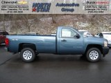 2012 Blue Granite Metallic Chevrolet Silverado 1500 Work Truck Regular Cab 4x4 #59026025