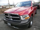 2010 Inferno Red Crystal Pearl Dodge Ram 1500 ST Quad Cab 4x4 #59026137