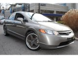 2007 Galaxy Gray Metallic Honda Civic Si Sedan #59053933