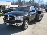 2007 Brilliant Black Crystal Pearl Dodge Ram 3500 SLT Regular Cab 4x4 Chassis #59054155